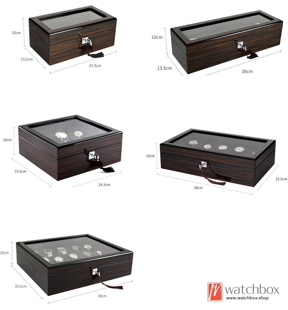 top grade black sandalwood pattern watch jewelery storage display box home decoration