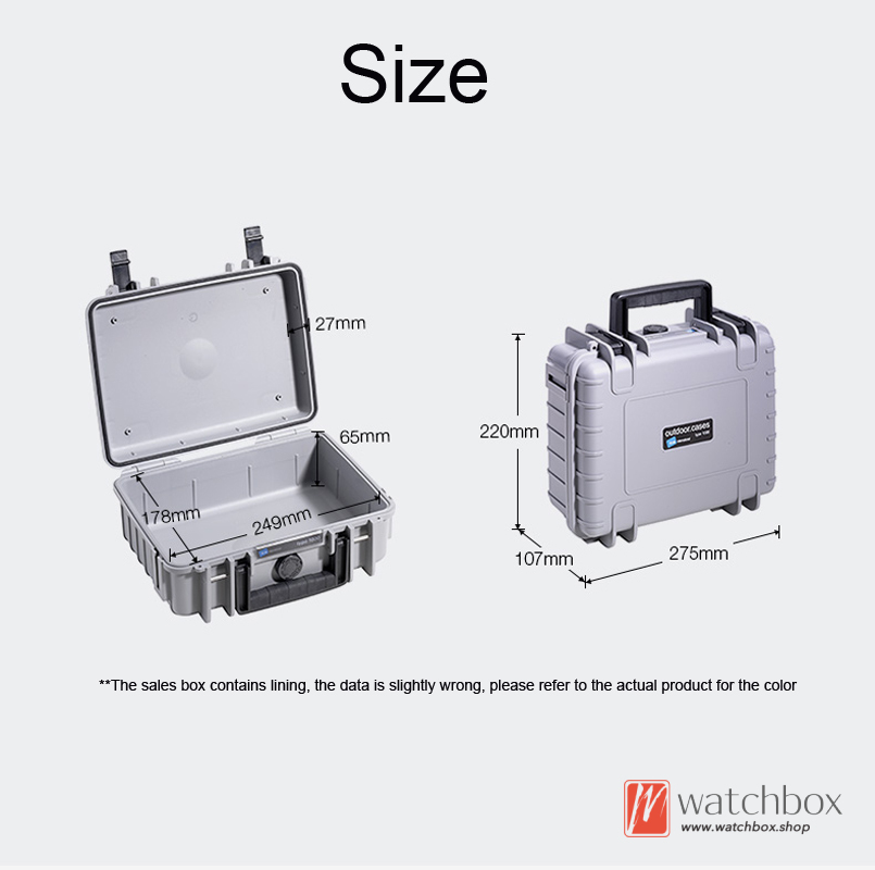 6 grids germany portable PP plastic outdoor waterproof dust-proof IP67 watch case protection travel storage safe suitcase box